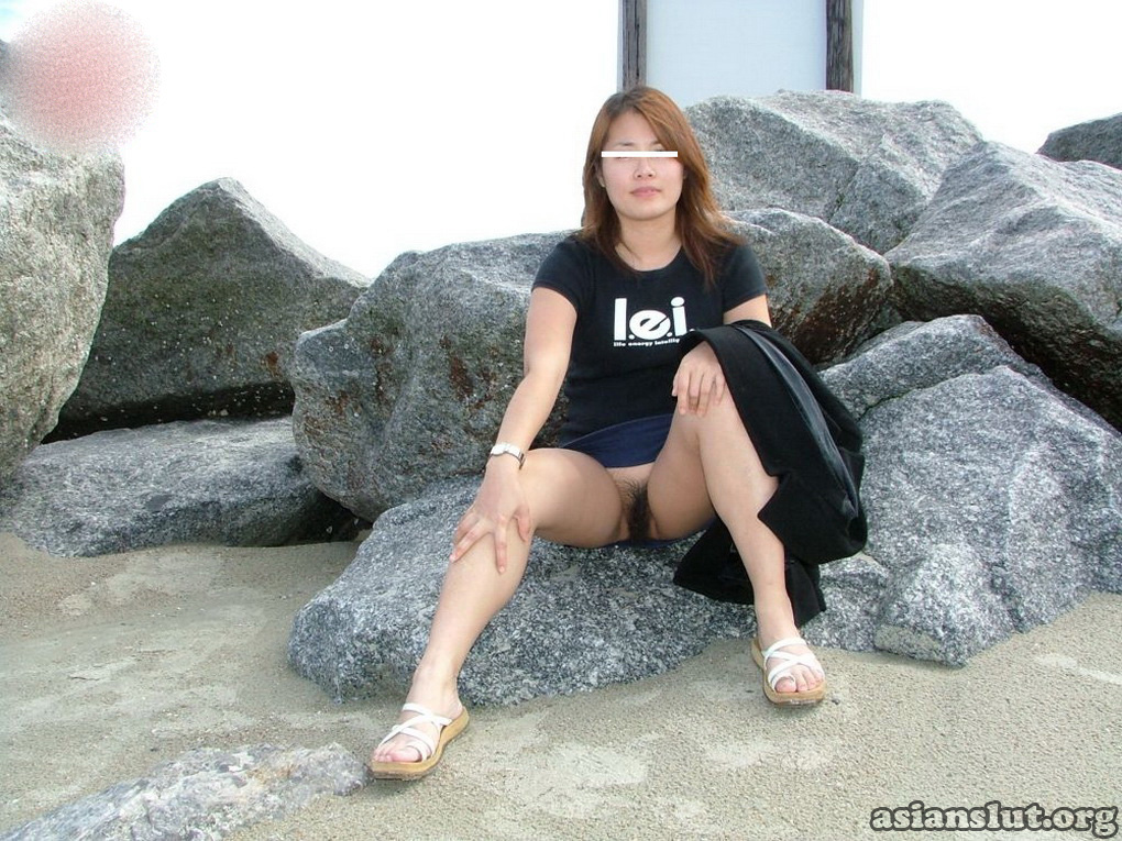 Mature asian women exposed in public