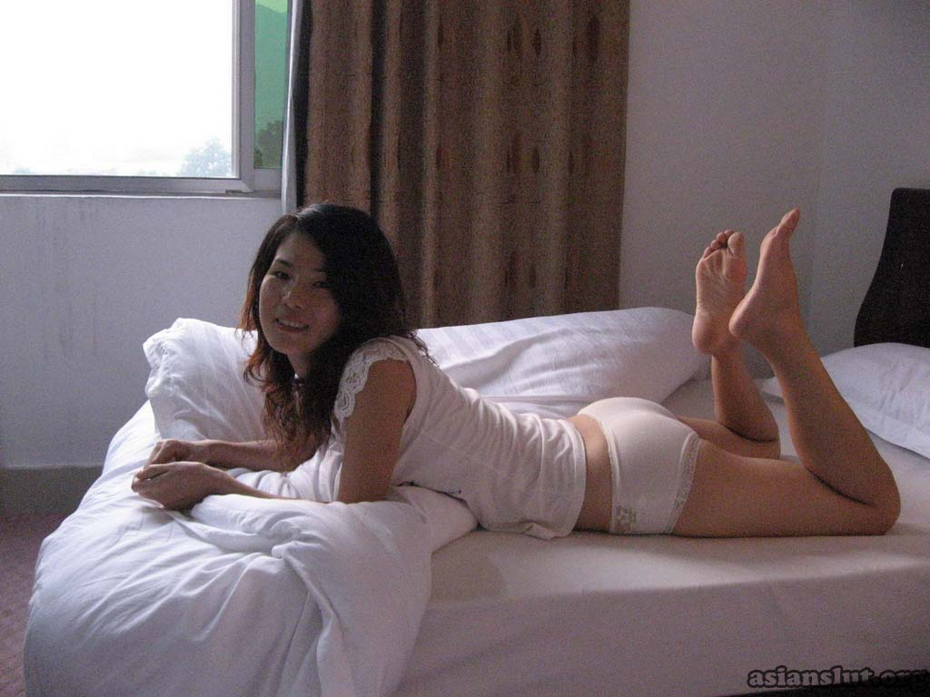 horny asian wife legs up spread ass  in the air