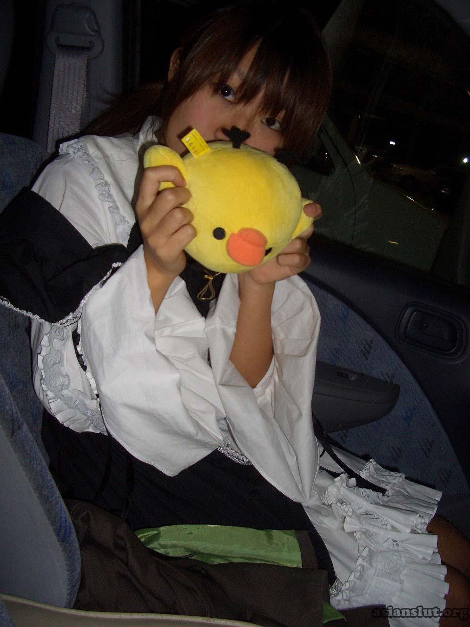 cute japanese girl with huge dark areola 007