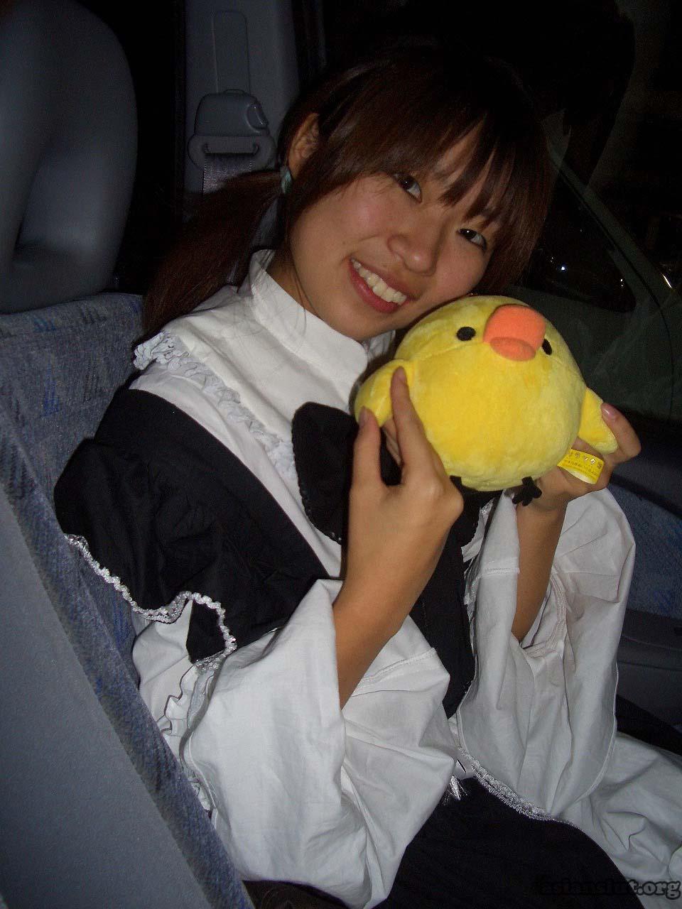 cute japanese girl with huge dark areola 010