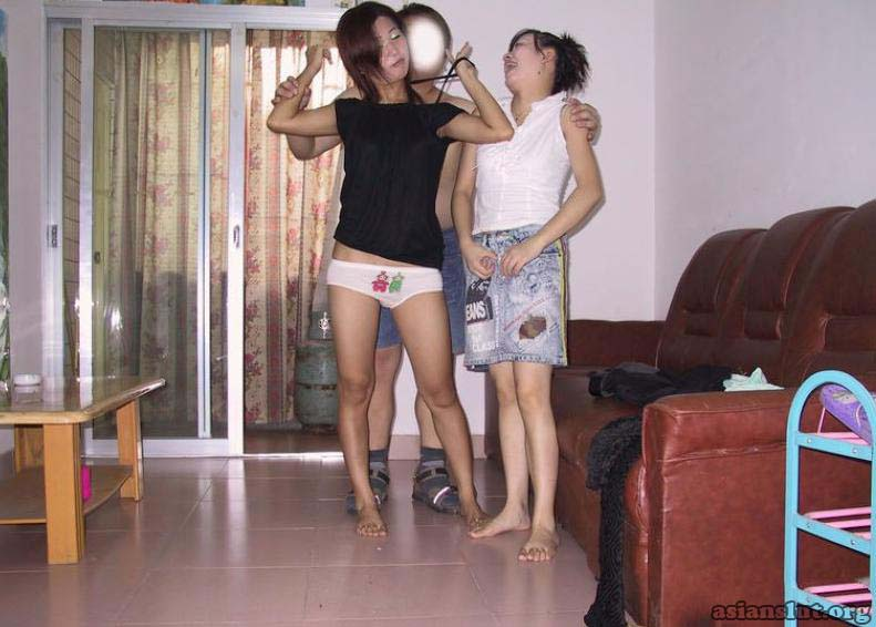 Two young chick share A fat Guys  Hard Cock 002