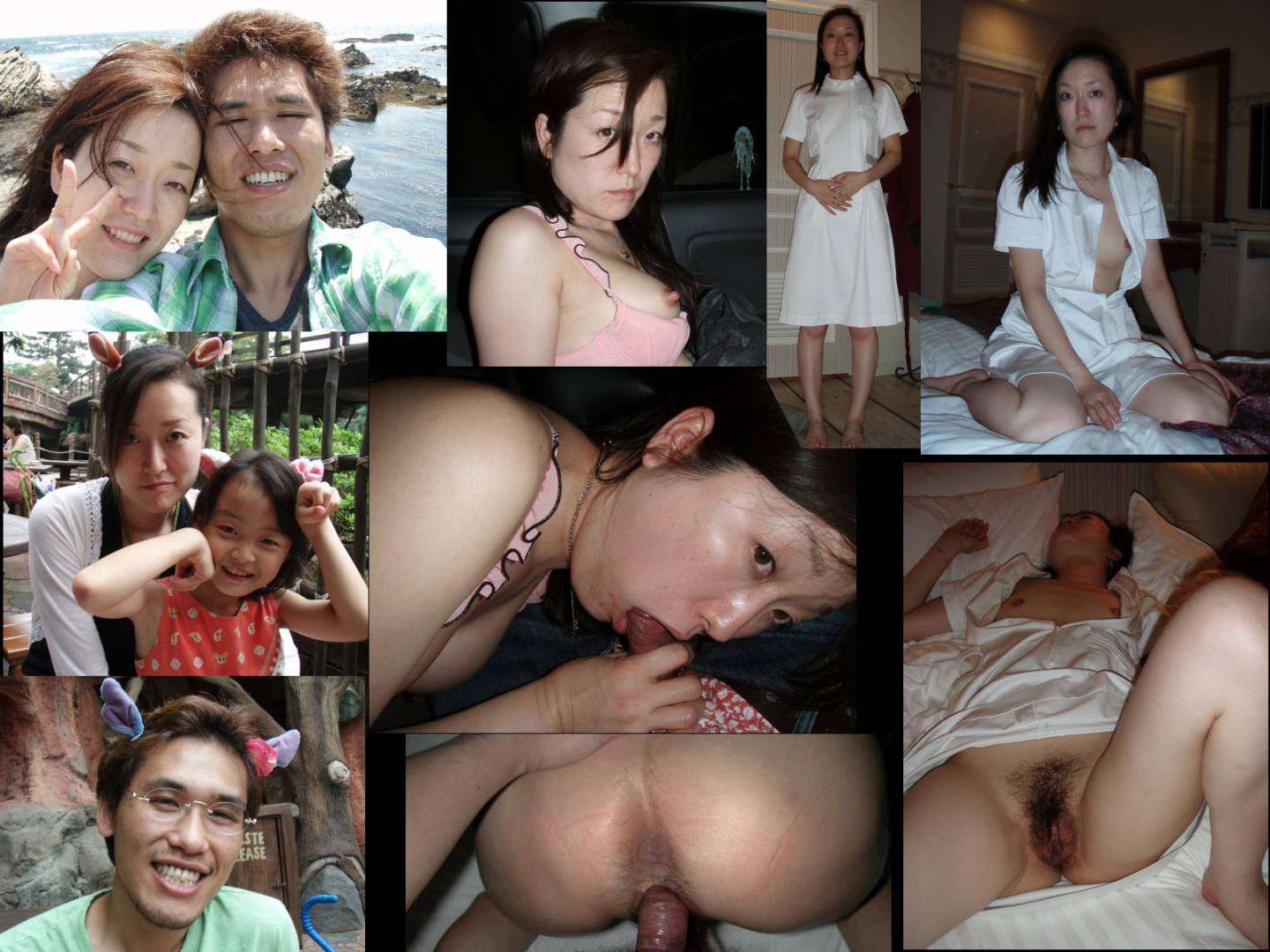 Elegant & cute Japanese mom's disgusting private photos