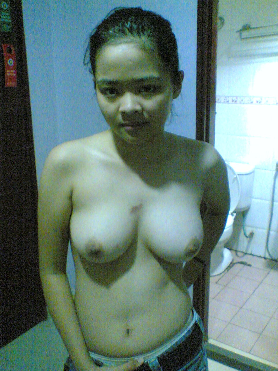 Cute Malaysian girl show off pink pussy and big boobs  Spreadeagle Spoon Shaved Pussy Ethnic Asian Female Amateur