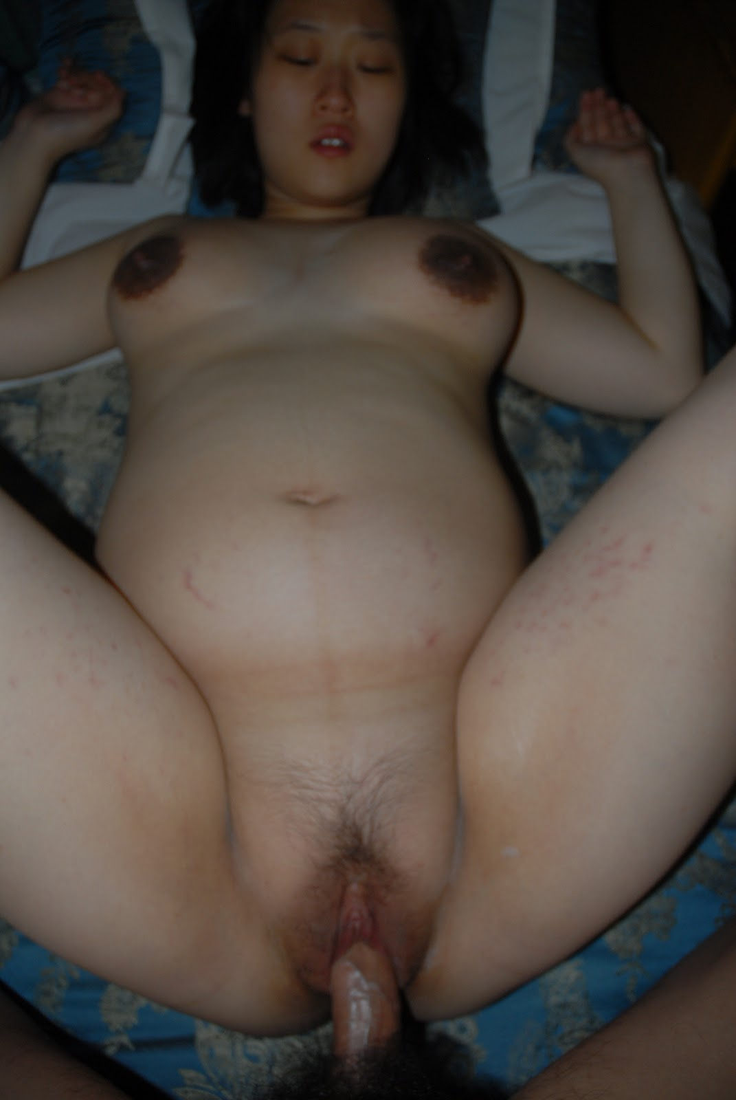 Hot korean Pregnent Lady Getting Fucked On The Bed