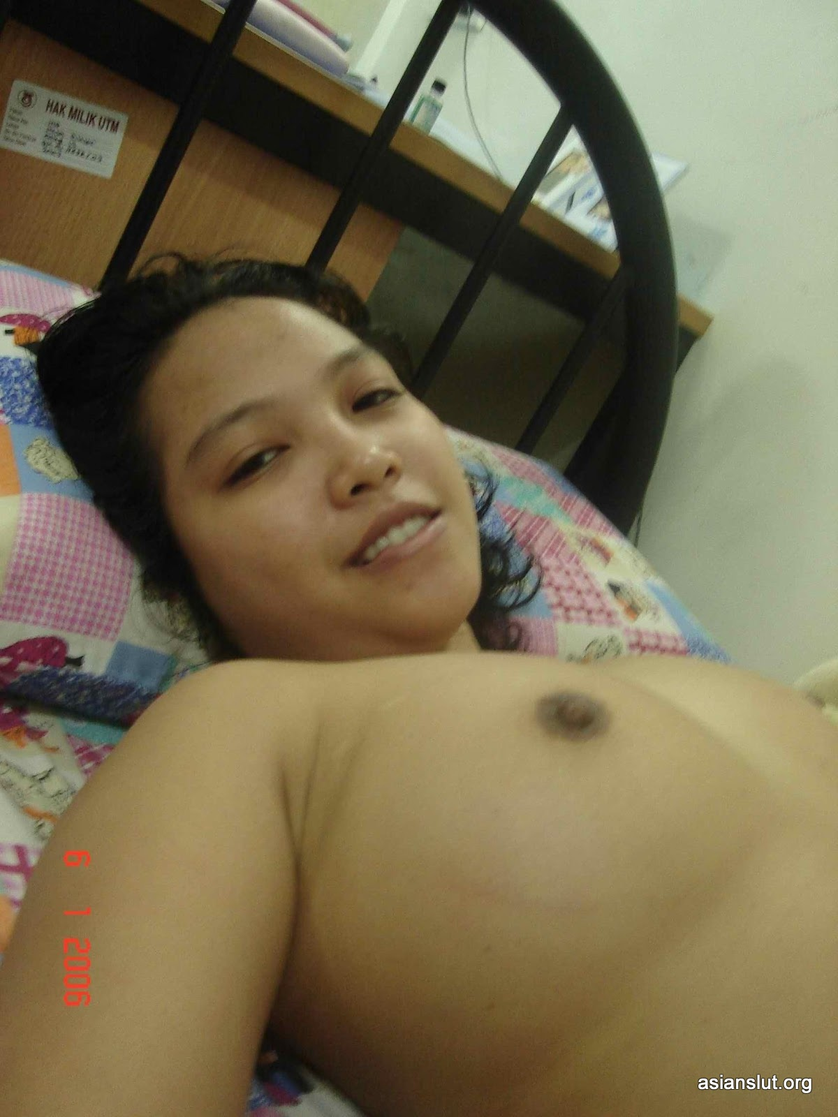 Cute Malaysian girl shows her lovely big boobs