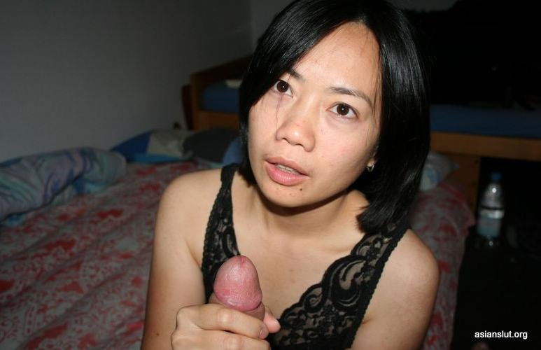 Sexy asian wife Enjoys Sucking A Large Cock Pussy Masturbation Mouth Cumshot Hardcore Dress Cum on Pussy couples black stockings Amateur